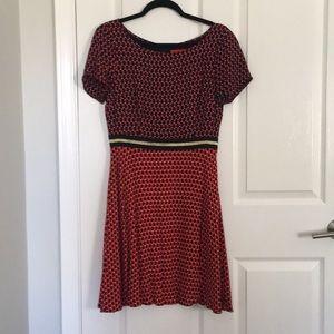 Anthro dress, cute bunny print!